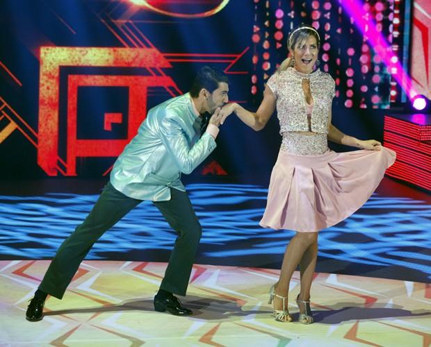 Giovanna Ewbank brilha no rock do Dança dos Famosos (Foto: Raphael Dias / TV Globo)