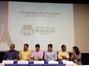 Programação foi divulgada durante coletiva à imprensa nesta segunda-feira.  (Foto: Roberta Cólen/G1)