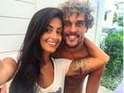Felipe Roque se declara para Aline Riscado: 'Amor da minha vida'