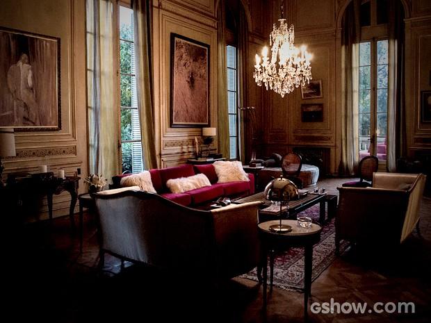 São muitas as salas desta mansão (Foto: Fábio Rocha / TV Globo)