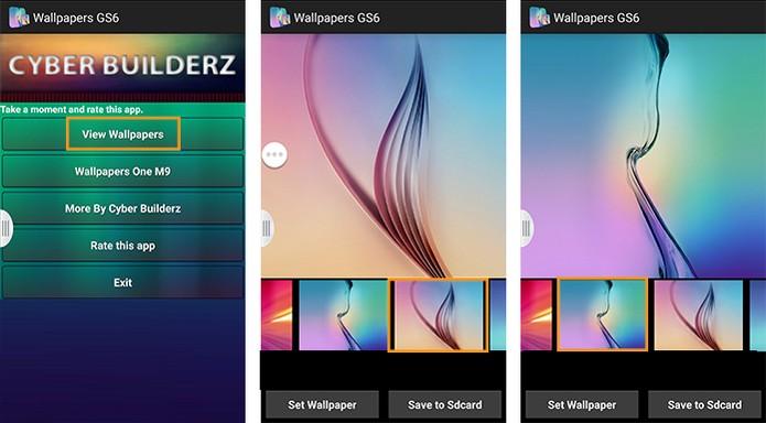 Abra o aplicativo com wallpapers do Galaxy S6 (Foto: Reprodução/Barbara Mannara)