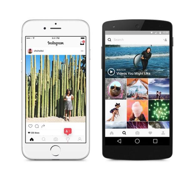 Instagram muda design do aplicativo. (Foto: Divulgação/Instagram)