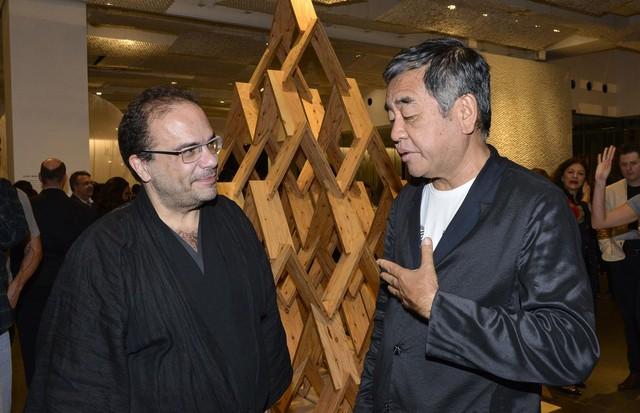 Marcello Dantas e Kengo Kuma (Foto: João Sal)