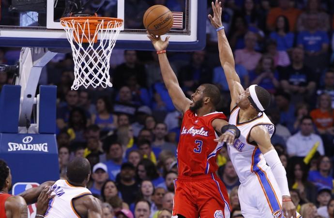 Chris Paul Clippers x Thunder NBA - AP (Foto: AP)