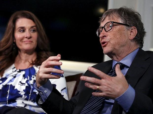 Bill e Melinda Gates concedem entrevista em Nova York (Foto: Shannon Stapleton)