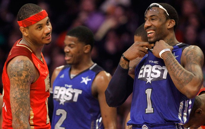 Carmelo Anthony Amare Stoudemire All Star Game (Foto: Reuters)