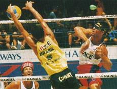 Sinjin Smith Randy Stocklos 1992 vôlei de praia Rio (Foto: Divulgação/FIVB)