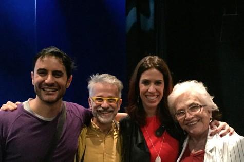 Ricardo Tozzi, Claudio Torres Gonzaga, Maria Clara Gueiros e Nathalia Timberg  (Foto: Divulgação)