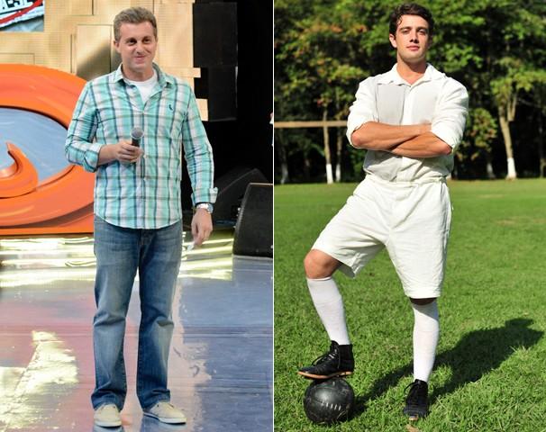 O apresentador Luciano Huck  e o ator Rafael Cardoso são os convidados da Central da Copa desta quarta, dia 26 (Foto: Globo)