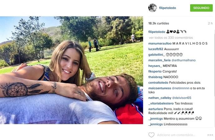 Filipe Toledo namorada Letícia Bufoni  (Foto: Reprodução Instagram)