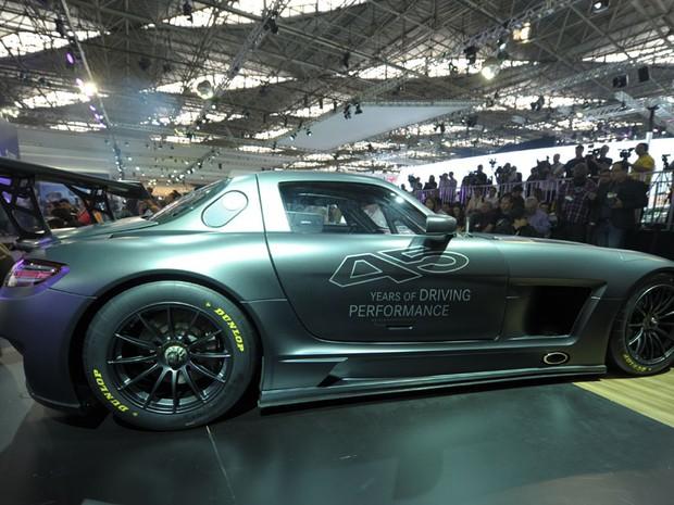 Mercedes mostra SLS GT3 no Salão de SP (Foto: Flavio Moraes/G1)