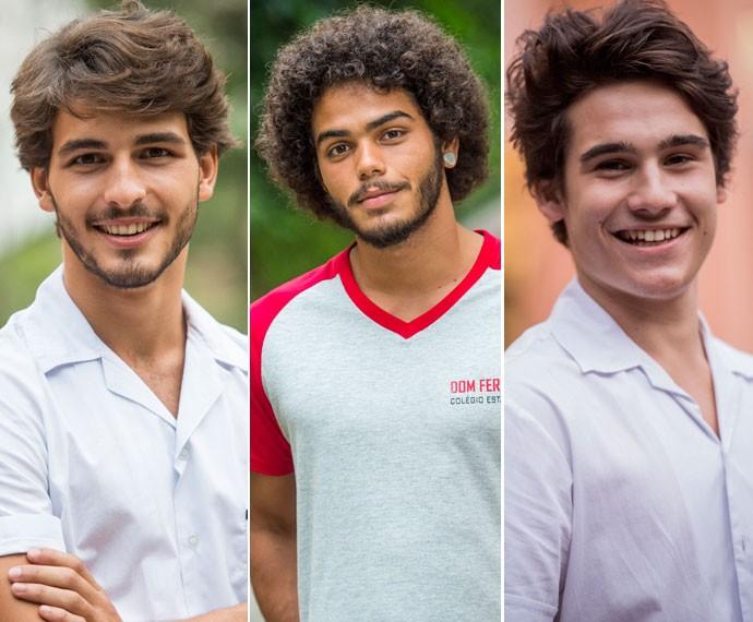 Roger, Pedro e Rodrigo são alguns dos colírios (Foto: João Cotta/TV Globo)