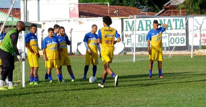 Interporto treino  (Foto: Reprodução/TV Anhanguera)