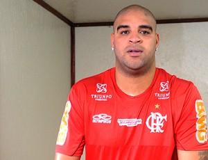 Adriano no treino do Flamengo (Foto: Alexandre Vidal / Fla Imagem)