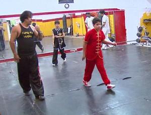 João Ferreira, professor de Kung Fu de Leme (Foto: Reprodução / EPTV)