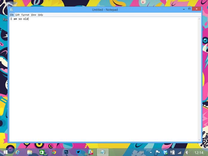 Bloco de notas permanece o mesmo após várias versões do Windows (foto: Reprodução/The Verge)