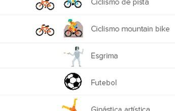 Na Olimpíada dos emojis, saltos ornamentais são único esporte fora