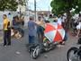 Três ficam feridas após motocicleta bater em árvore em João Pessoa
