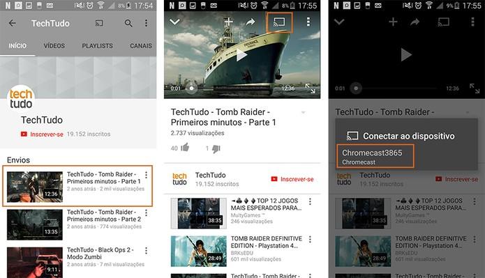 Abra o app e selecione qual mídia deseja transmitir via Chromecast (Foto: Reprodução/Barbara Mannara)