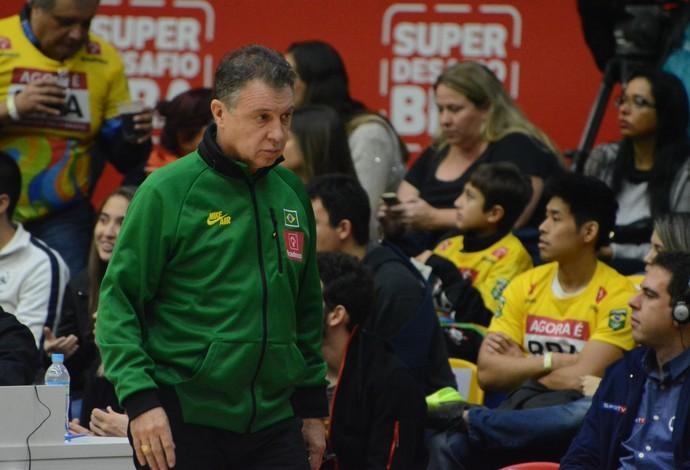 Rubén Magnano Brasil x China amistoso Mogi das Cruzes (Foto: Cairo Oliveira)