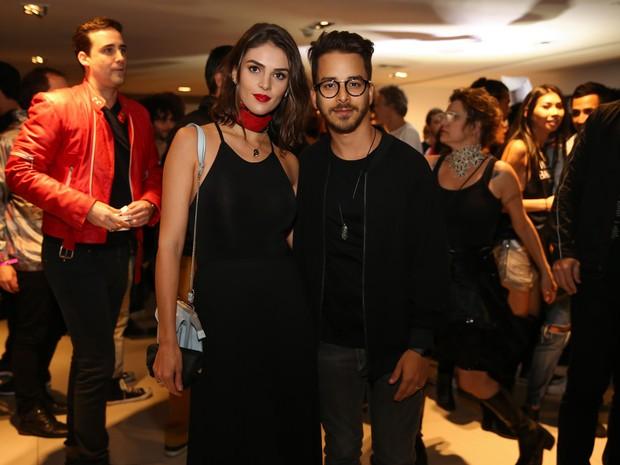 Junior Lima e a mulher, Mônica Benini, em show em São Paulo (Foto: Manuela Scarpa/ Brazil News)