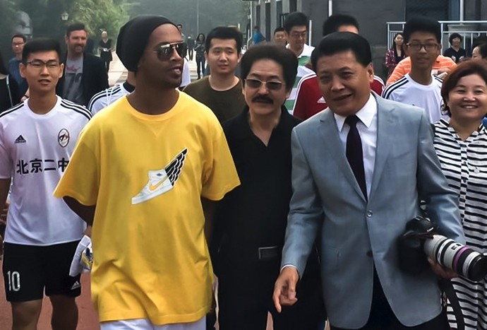 Ronaldinho Gaúcho China (Foto: Reprodução / Twitter)