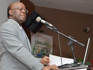 Joaquim Barbosa participa de evento na Semana Jurídica do Instituto de Educação Superior de Brasília (Iesp) (Foto: Agência Brasil)