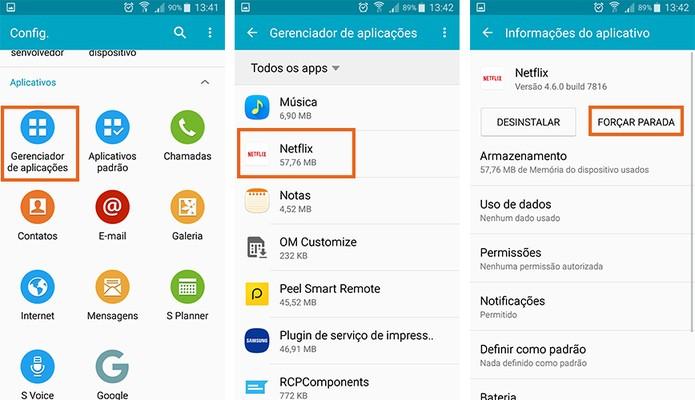 Encerre o app do Netflix no Android e reinicie o celular (Foto: Reprodução/Barbara Mannara)