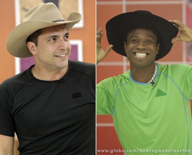 Daniel Boaventura e Edílson vão desempatar a disputa (Foto: Domingão do Faustão / TV Globo)