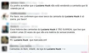 Comentários sobre Luciano Huck (Foto: Reprodução / Twitter)