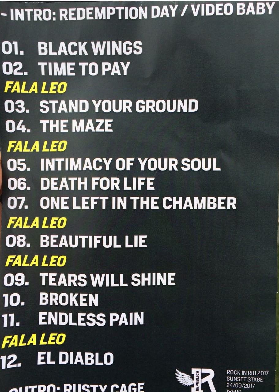 Setlist do show da banda paulista Republica, que toca no Sunset s 18h (Foto: Reproduo)