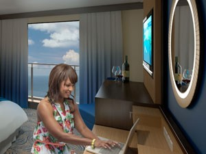 Perspectiva artística do navio Quantum of the Seas, da Royal Caribbean; varanda virtual (Foto: Divulgação/Royal Caribbean)