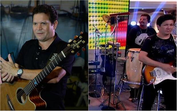 Internautas comparam novo guitarrista de Joelma com Chimbinha (Foto: Reprodução/Twitter)
