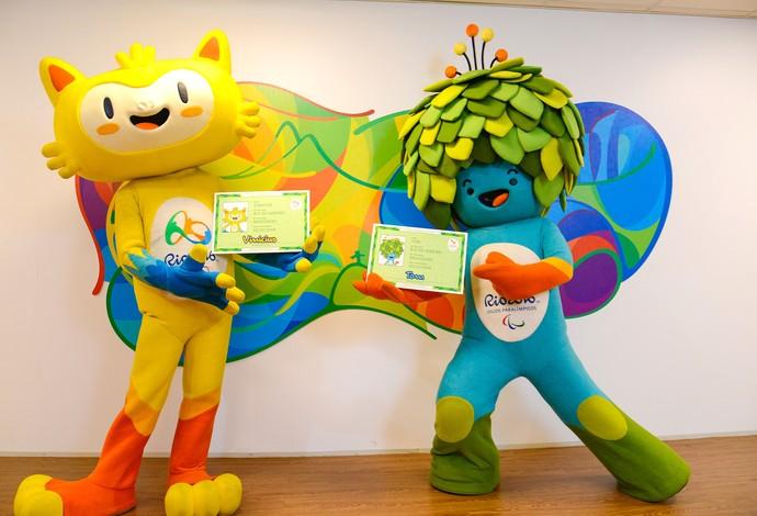 Tom e Vinicius Mascotes das Olimpíadas no Rio de Janeiro (Foto: Alex Ferro / Rio2016)