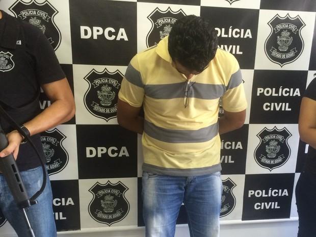 Suspeito de abusar de enteada durante 9 anos é preso em Aparecida de Goiânia Goiás (Foto: Vanessa Martins/G1)