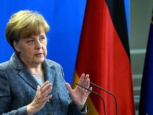 Angela Merkel JG (Foto: Reprodução: TV Globo)