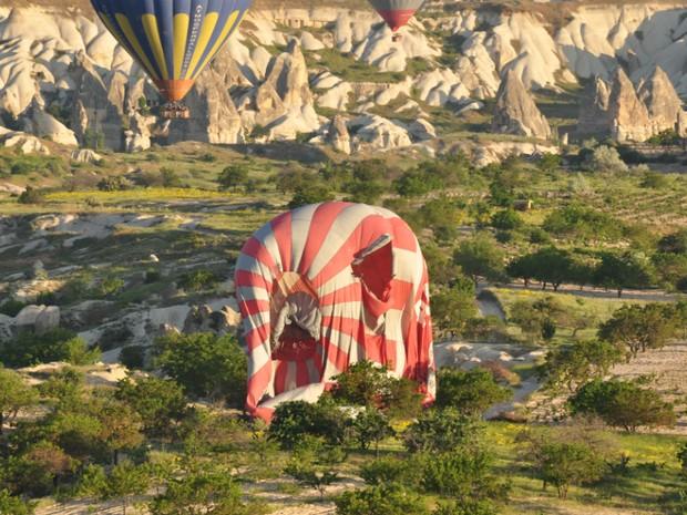 Balão acidentado na Turquia (Foto: Divulgação / Paulo Modenezi)