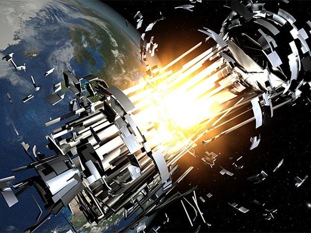 Explosões no espaço geram milhares de pequenos detritos (Foto: Agência Espacial Europeia/via BBC)