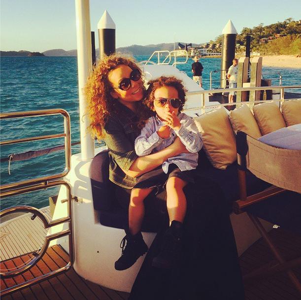 Mariah Carey com o filho (Foto: Reprodução/Instagram)