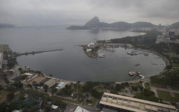 Imagem a´rea de 27 de julho mostra a Marina da Glória, no Rio de Janeiro. (Foto: Leo Correo/AP)
