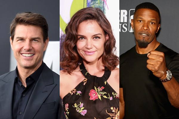 Tom Cruise, Katie Holmes e Jamie Foxx (Foto: Getty)