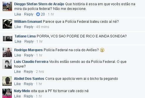 Fs cobram explicaes do Avies do Forr aps operao da Polcia Federal que mira pessoas ligadas  banda (Foto: Reproduo/Facebook)