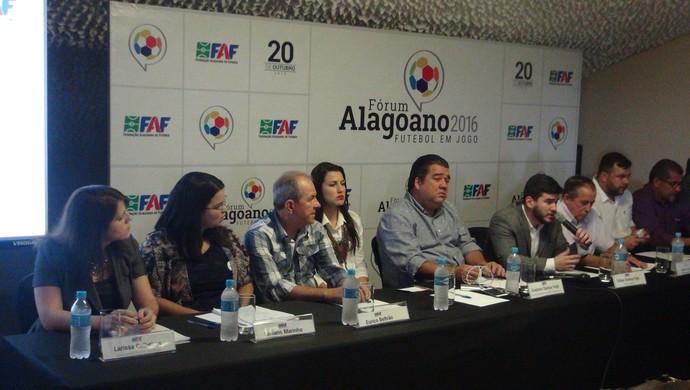 Fórum do Futebol Alagoano 2016 (Foto: Denison Roma / GloboEsporte.com)