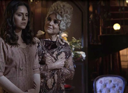 'Tempo de Amar': Lucerne captura Helena e faz proposta para quitar a dívida da jovem
