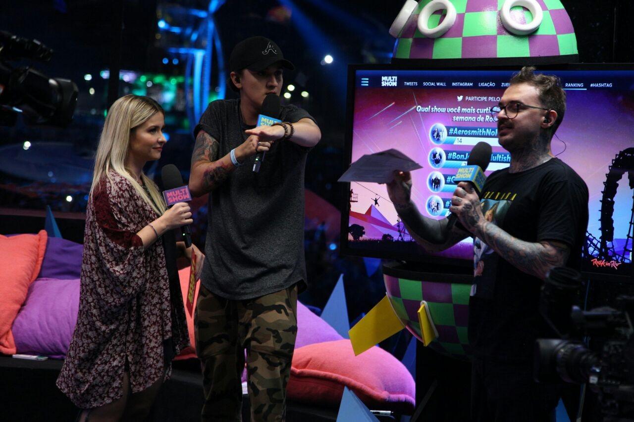 PC Siqueira, Christian Figueiredo e Fernanda Braz no Glass Stage (Foto: Divulgao)