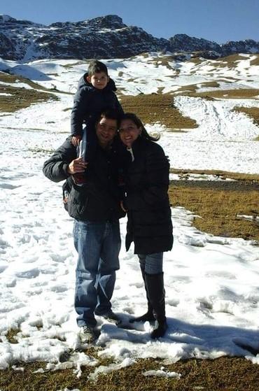 Regina com o marido, Angelo, e o filho, Vinicius (Foto: Arquivo Pessoal)