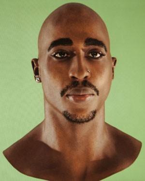 Rosto digital de Tupac Shakur que foi usado em holograma durante festival (Foto: AP)
