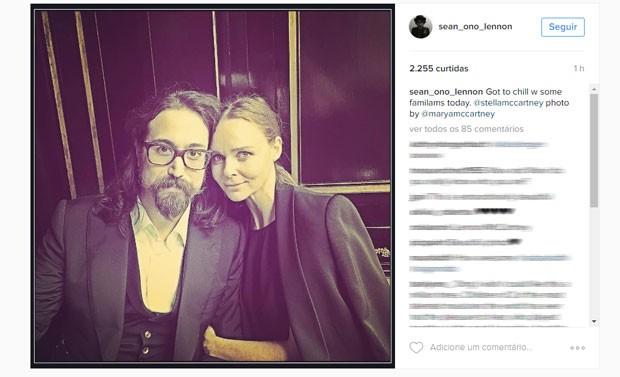 Sean Ono Lennon publica foto ao lado de Stella McCartney (Foto: Reprodução/Instagram/sean_ono-_lennon)