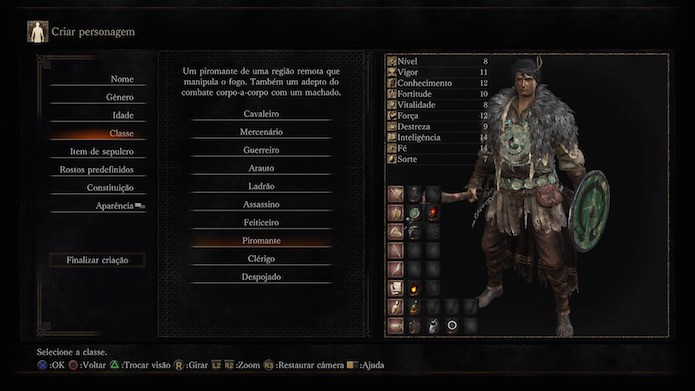 Dark Souls 3: piromante (Foto: Reprodução/Victor Teixeira)