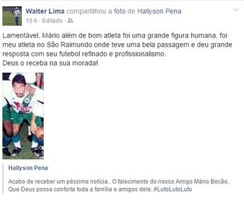 Homenagem, Mário Bocão (Foto: Reprodução/Facebook)